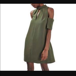 NEW! TOPSHOP Cold Shoulder Keyhole Dress