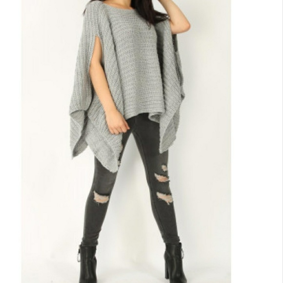 Sweaters - NWT SOFT CHUNKY KNIT & OVER SIZED PONCHO!