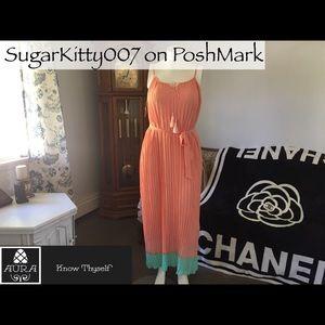 Dresses & Skirts - Greek Chiffon Goddess Peach MaxiDress