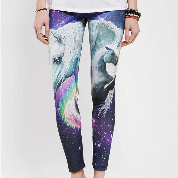 Urban Outfitters Pants - Unicorn galaxy leggings medium stretchy