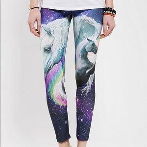 Unicorn galaxy leggings medium stretchy