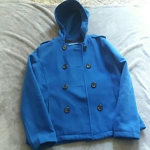 So women's size large hooded pea coat