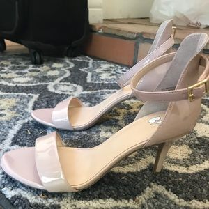 Women's strappy nude heels