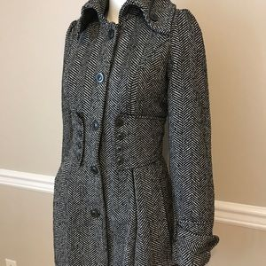 Gray pea coat