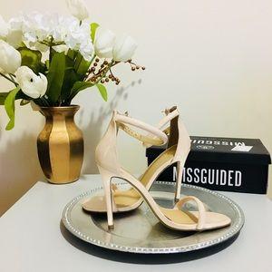 MISSGUIDED Nude Patent Stilettos SZ40