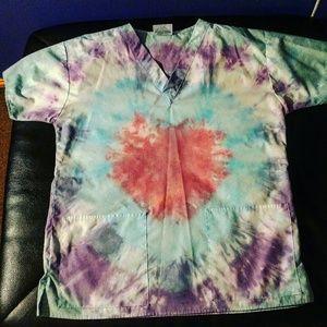 Other - Tie dye scrub top