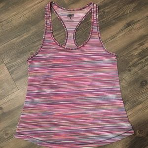 Multicolored workout top