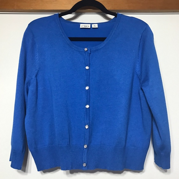 53% off Cato Sweaters - Royal Blue Cardigan Crop Sweater - XL ...