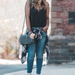 Handbags - REBECCA MINKOFF BLACK HANDBAG