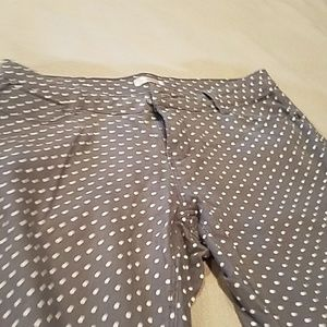 Grey polk a dot pants