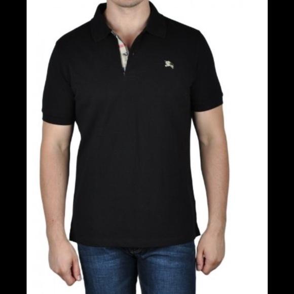 Burberry Shirts   Flash Sale Mens Brit Black Polo Sz Xxl   Poshmark df659f0b00e