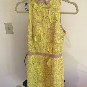 English Factory Yellow 3D Dress S