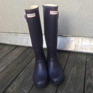 Dark purple hunter boots
