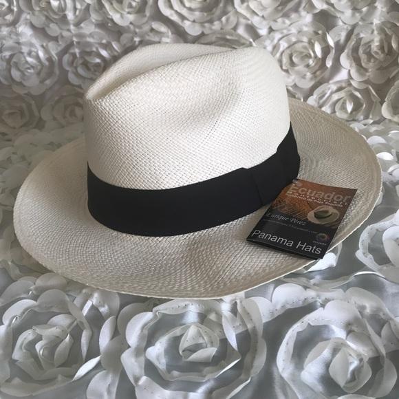 20c3ef93a 100% genuine Panama Hat NWT
