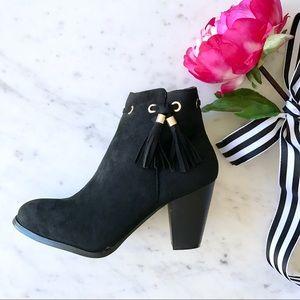 Shoes - Black Tassel Booties