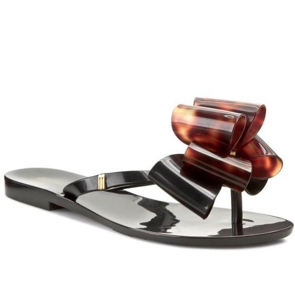 4755df471ec7c5 Melissa Hamonic Black sandals with bow. M 59d0107613302aa49d066f91
