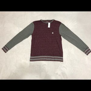 On The Byas Maroon Color Warm Sweater Size Med.