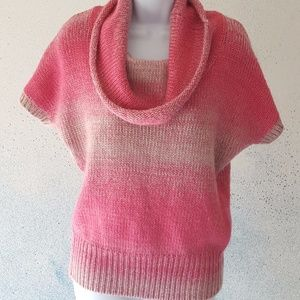 The Limited short sleeve knit sweater cowl neck xs