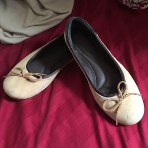 Timberland Tan Suede/Leather Trim Ballet Flat 7