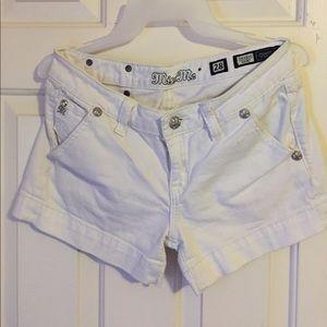 Cute white Miss Me shorts