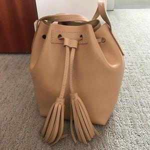 J Crew mini bucket bag leather