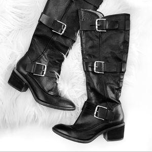 Donald j. Pliner black riding boots