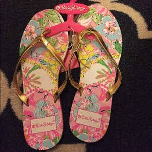 NWT Lilly Pulitzer for Target Flip Flops Size 7