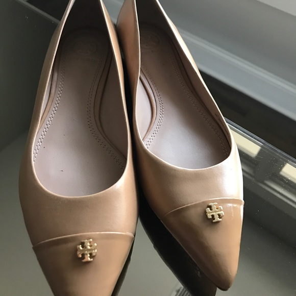 a48be03b0f5 Tory Burch Pointed Toe Nude Flats Size 7. M 59d0161f6a583028c0068def