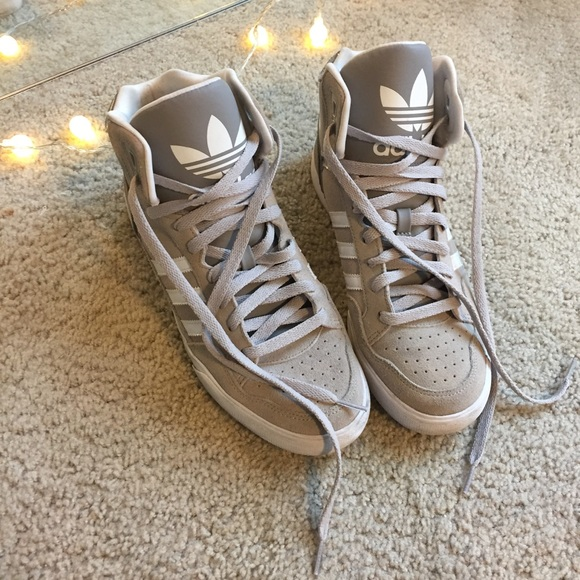 5ad0dd533d adidas Shoes - ADIDAS GREY SUEDE HIGH TOP SNEAKERS