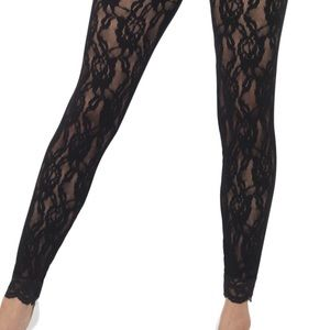 Pants - 🌸💕Black All Lace Floral Leggings XS/S🌸💕NWT