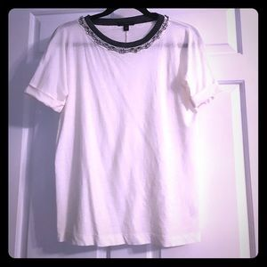 JCrew Jewel Neckline Tee