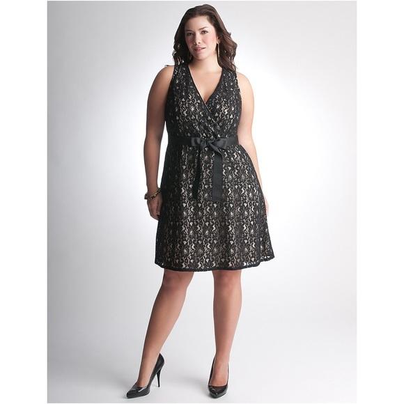 45ab66fd3ee Lane Bryant Dresses   Skirts - Lane Bryant fit   flare black lace cocktail  dress