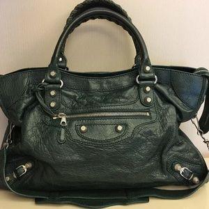 Balenciaga Bags | Authentic Dark Green