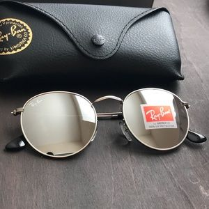 d1d0398748 Ray-Ban Accessories - All silver round ray-ban sunglasses size 50
