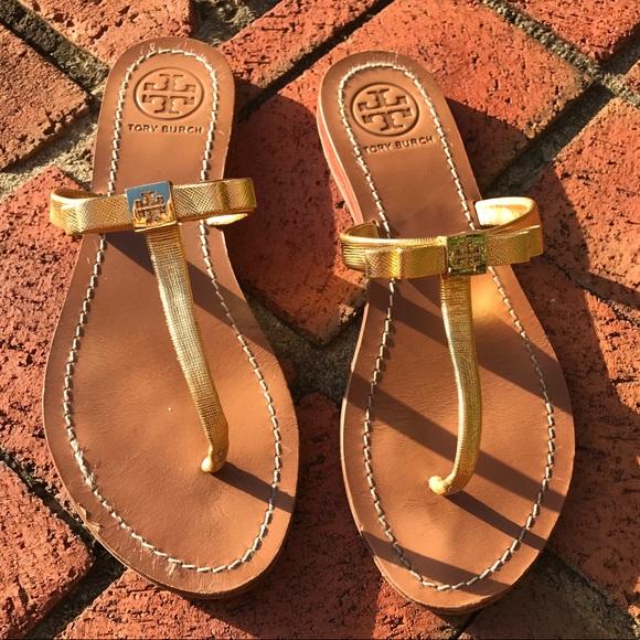 005b97455b5 Tory Burch Leighanne bow sandals! M 59d01b24bcd4a78da206a8c3