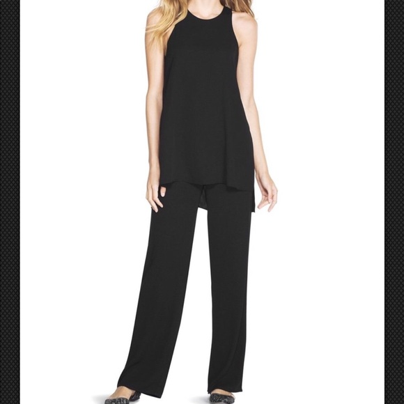 a5e272d98b5 White House Black Market Wide Leg Tunic Jumpsuit