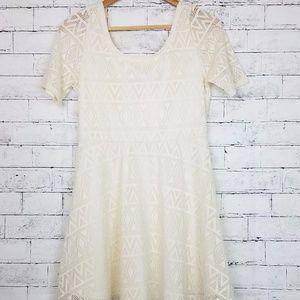 NWT Rebellious One Ivory Short Sleeve Dress, S
