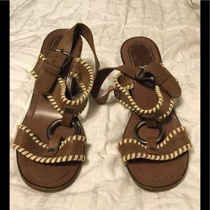 Marni heeled leather sandal