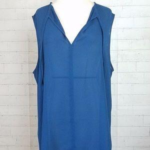 14th & Union High-Low V-Neck Sleeveless Tunic, XL