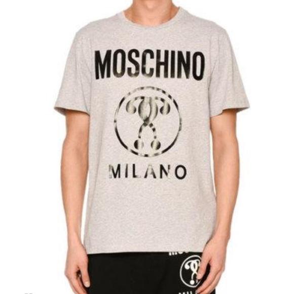 Question Logo Poshmark Moschino Tshirt Mark ShirtsDouble Sc45AqjLR3