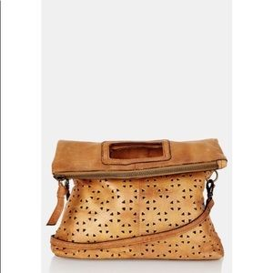 Topshop perforated leather cross body bag