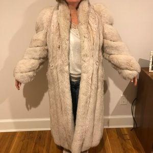Vintage silver fox mink coat