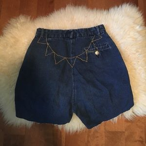 90's vintage sun embroidered high waisted shorts