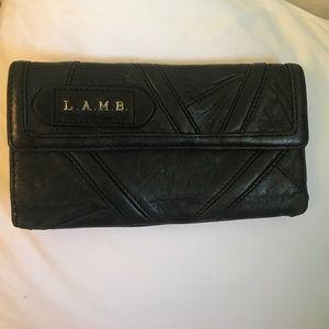 L.A.M.B black leather wallet