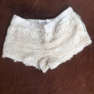 Papaya brand new lace shirt shorts! 💋