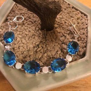 topaz Jewelry - Blue topaz 925 bracelet