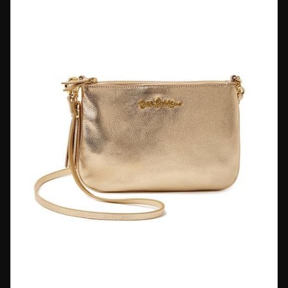Lilly Pulitzer Handbags - Lilly Pulitzer Cruisin Crossbody in Gold Metallic 778f01848a049