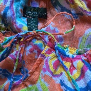 Ralph Lauren Tops - Gypsy Orange Peasant Top Cotton