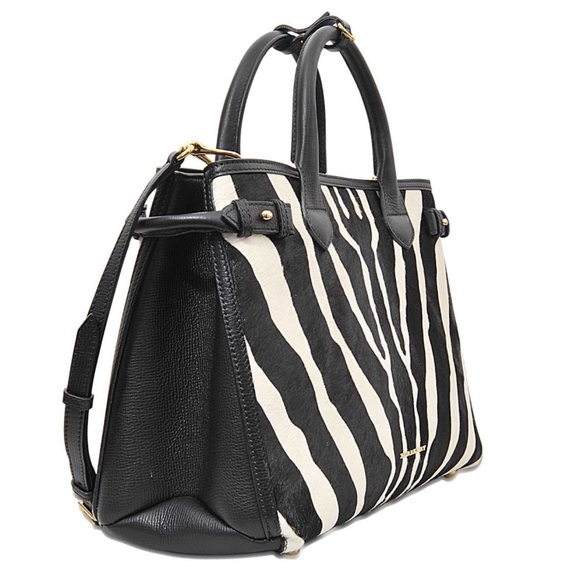 600f0c1d20ce Burberry Handbags - Burberry Banner Zebra Calf-Hide Tote