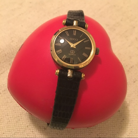 2380ae18e0c Gucci Accessories - Women s Gucci Authentic Watch black leather band🎁